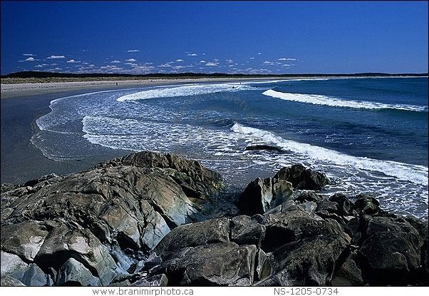 Image: Ocean surf on Martinique Beach, Nova Scotia